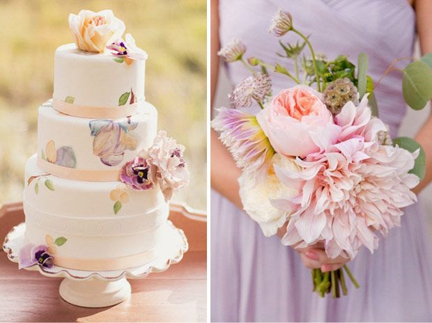 A Soft Indian Summer Wedding Inspiration Board Combining Warm Tones Of Purple And Peach To