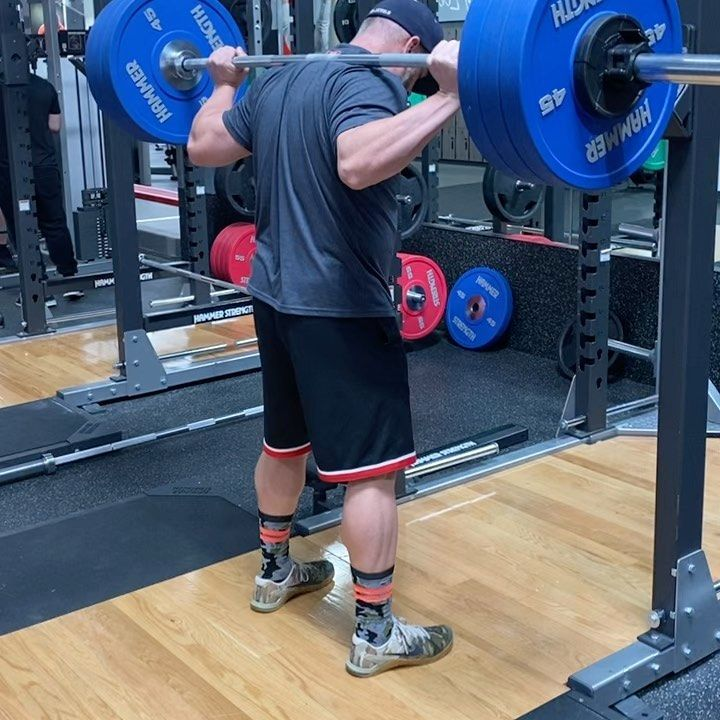 Just some light squat action. 3x4@325.