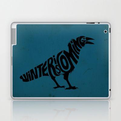 """Winter is Coming - Game of Thrones"" Laptop  iPad Skin by Savousepate - $25.00"
