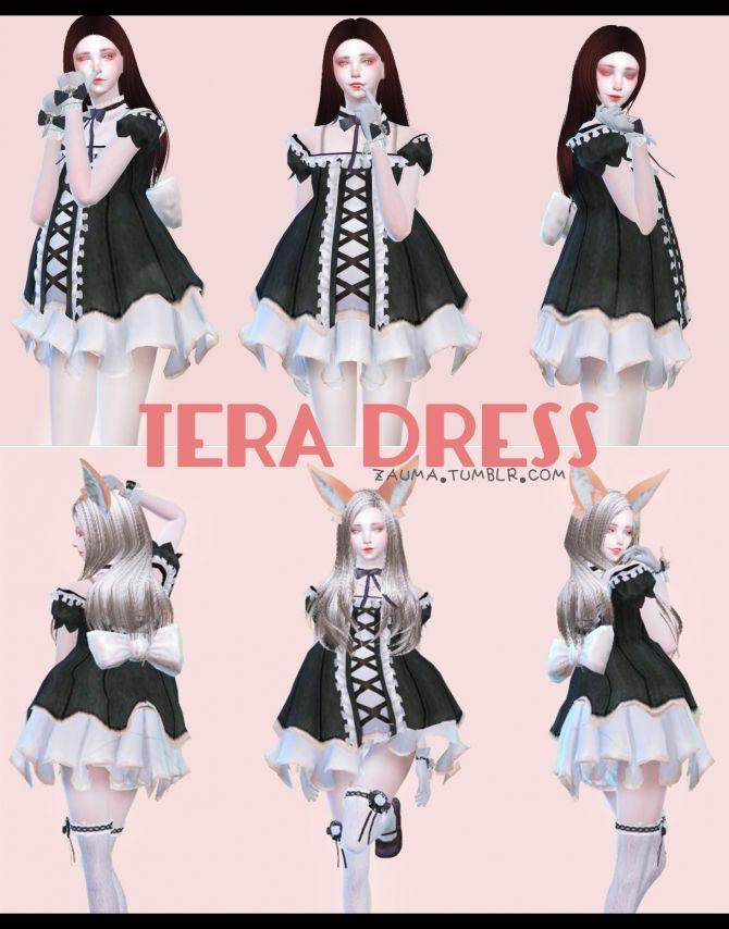a54e1ed785b50 TERA Dress at Zauma via Sims 4 Updates Check more at http   sims4updates
