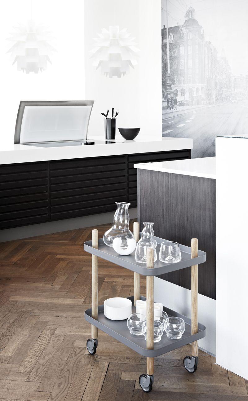 basil green pencil: Mobile side table by Simon Legald - Normann Copenhagen