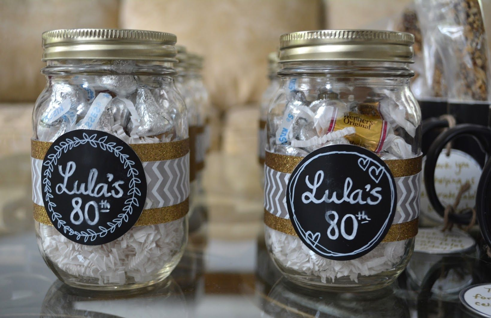 Mason Jar Party Favors Mason Jar Party Favor 80th Birthday Party Favors 90th Birthday Party Favors