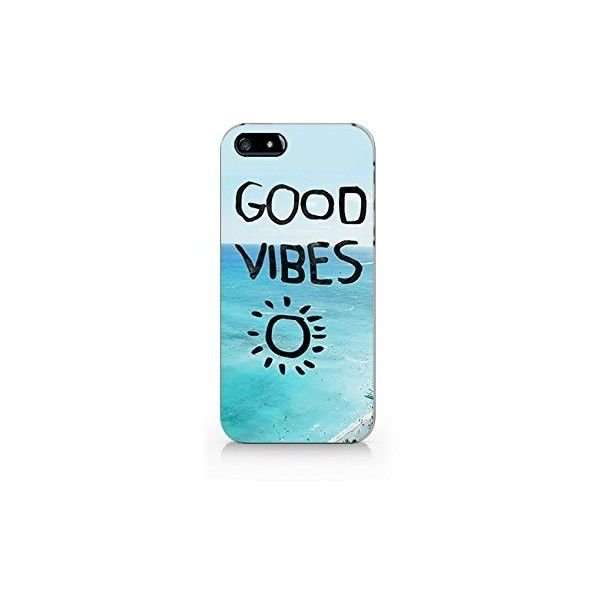Good Vibes Beach Iphone 4 Case, Iphone 4S Case White Plastic Phone... ($2.05) ❤ liked on Polyvore featuring accessories and tech accessories