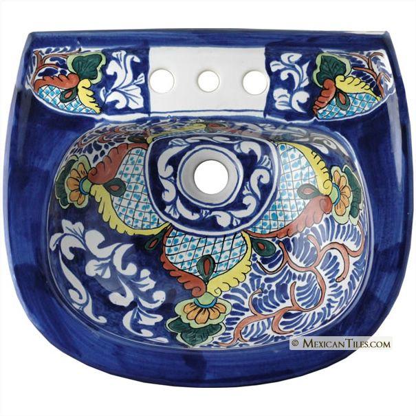 Mexican Tile Classic Mexican Talavera Porcelain Bathroom