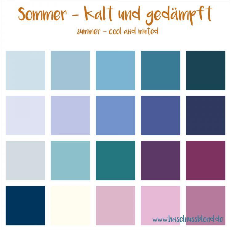 Sommer (4er) | Farbtypen | Pinterest | Sommer, Sommertyp und Einführung