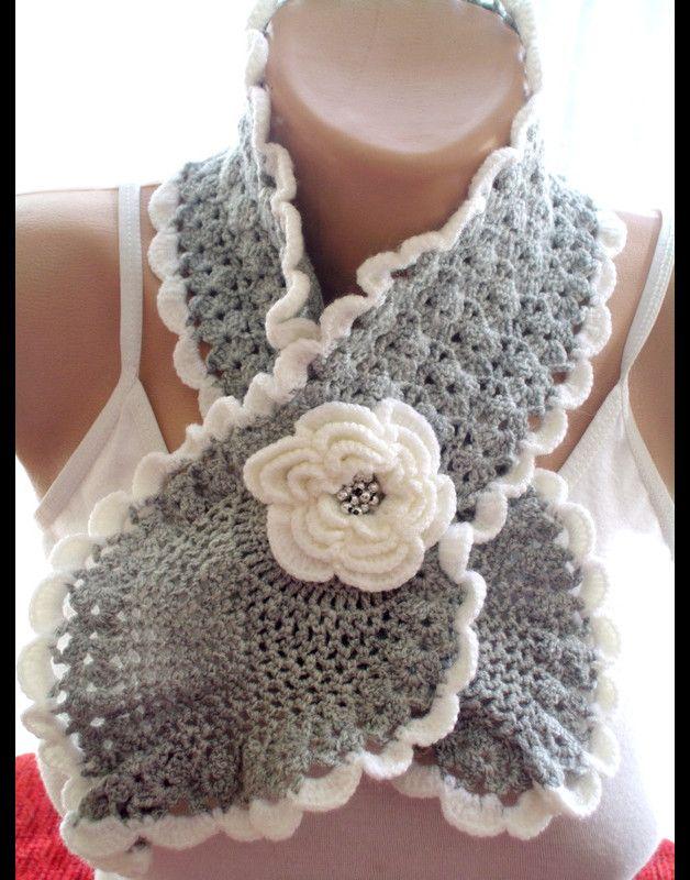 Chunky red Crochet Cowl , Häkeln Halswärmer
