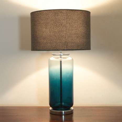 Teal Ombre Glass Table Lamp Dunelm 31 99 Blue Glass Lamp Table