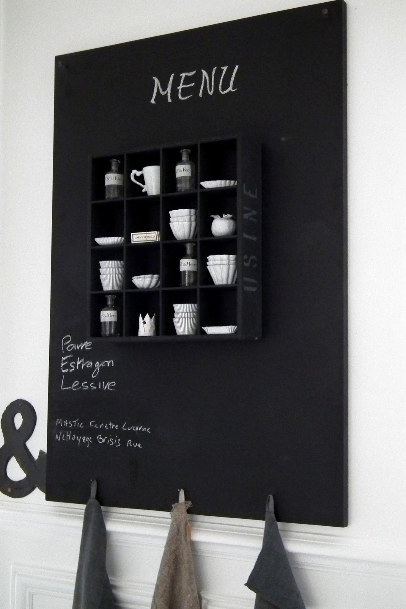 tableau_noir chez mon amie Chantal | CHARCOAL | Pinterest ...