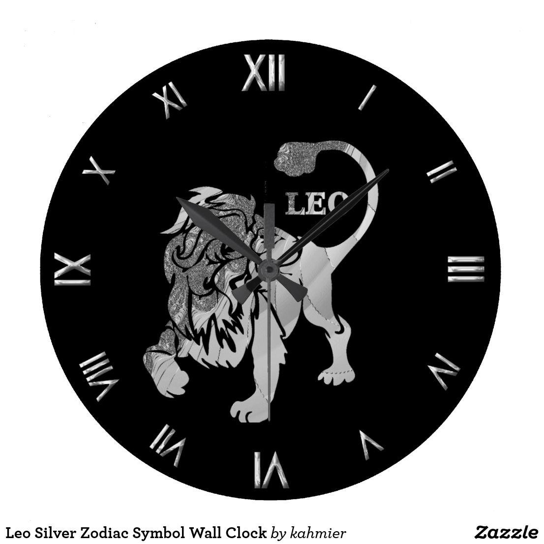 Sold leo silver zodiac symbol wall clock stuff sold on zazzle sold leo silver zodiac symbol wall clock biocorpaavc