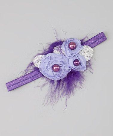 Loving this Purple Claire Headband on #zulily! #zulilyfinds