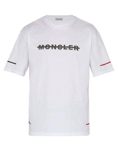 e0d62d01c064 MONCLER MONCLER - LOGO PRINT COTTON T SHIRT - MENS - WHITE.  moncler ...