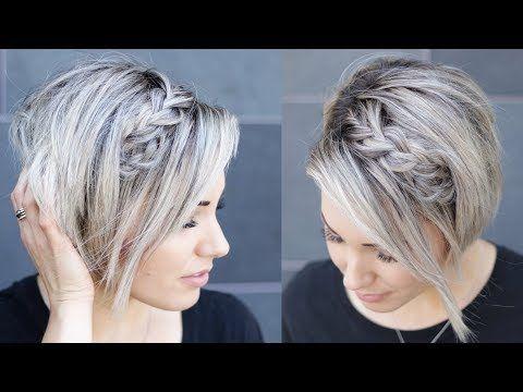 Dutch Braid Hair Tutorial Short Hair Youtube Short Hair Tutorial Braided Hairstyles Braids For Short Hair