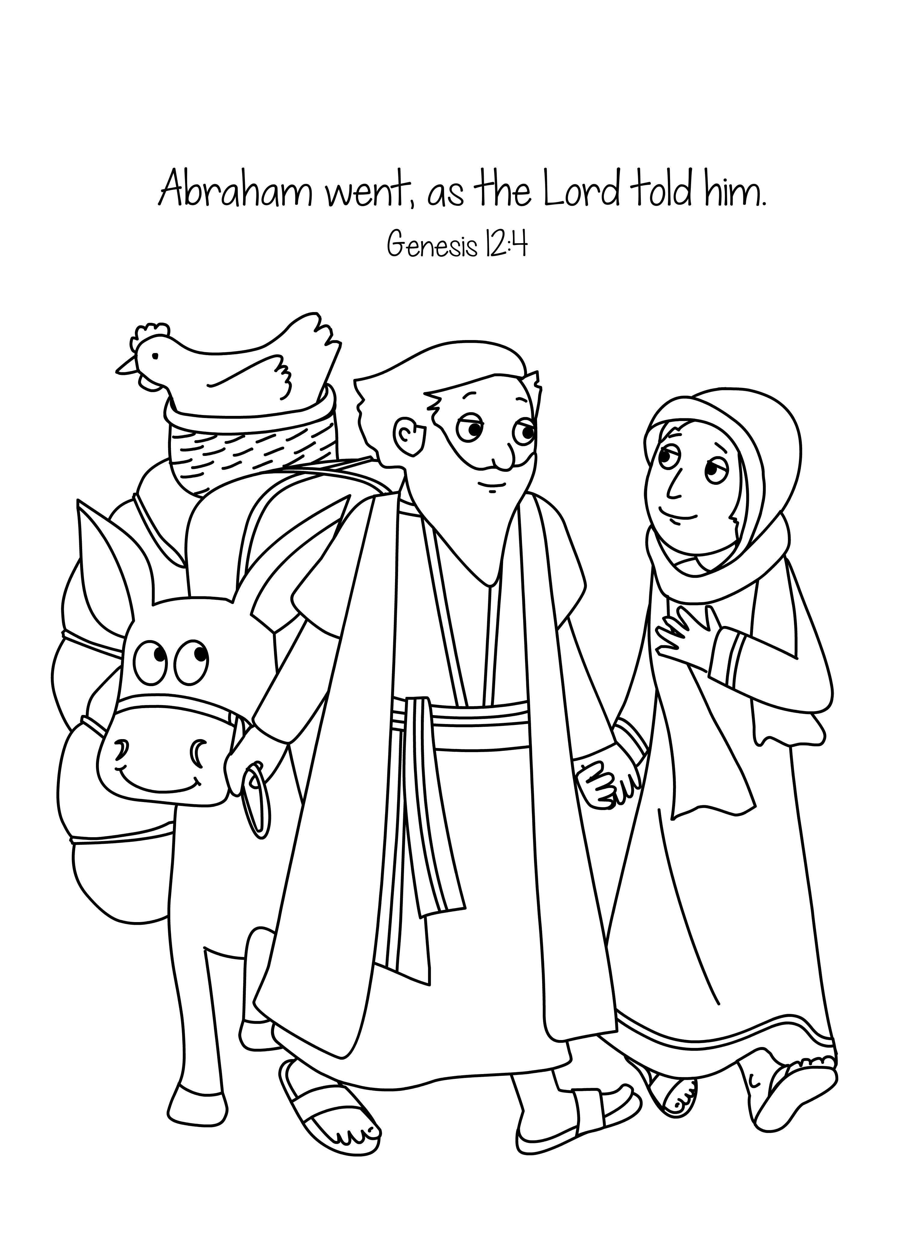 Preschool bible lessons coloring pages - Bible Stories Abraham And Sarah Coloring Page Jpg 3 028 4 167 Pixels