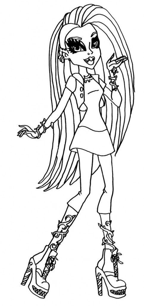 Monster High Venus Mcflytrap Coloring Pages | Color me fun ...