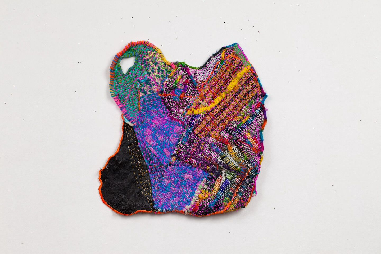 Josh Blackwell Neveruses (Base), 2014 plastic, silk, ink