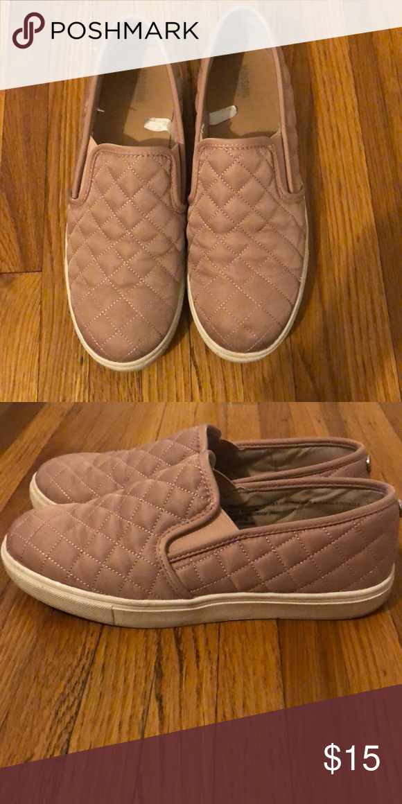 Target Pink Quilted Slip On Sneakers