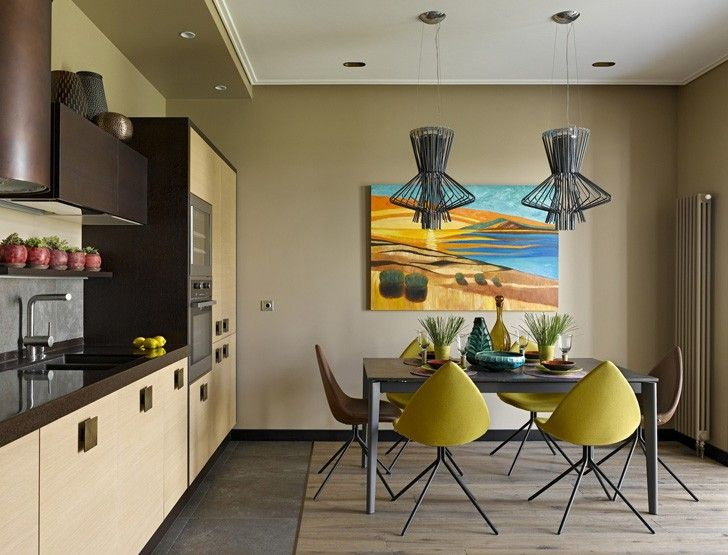 Kitchen In Unusual Colors #kitchen #design #colorful #modern #paintings