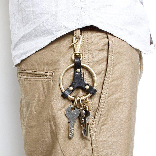 Fancy - Brass Peace Key Ring