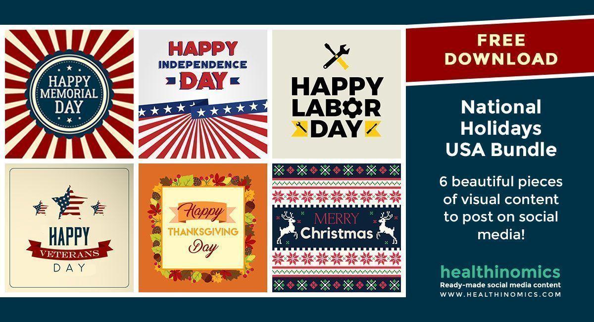 Free Download - National Holidays USA Bundle  #USA #socialmedia #healthinomics