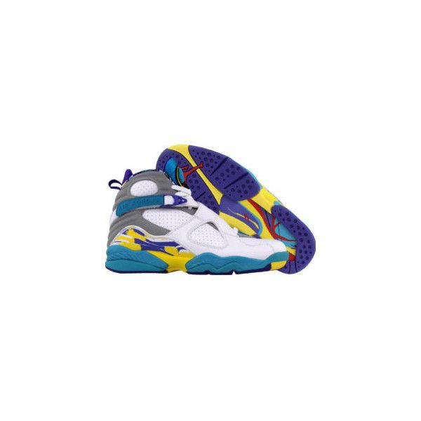 wholesale dealer dd855 b9015 Nike Womens WMNS Air Jordan Retro 8 (white   concord   aqua blue).
