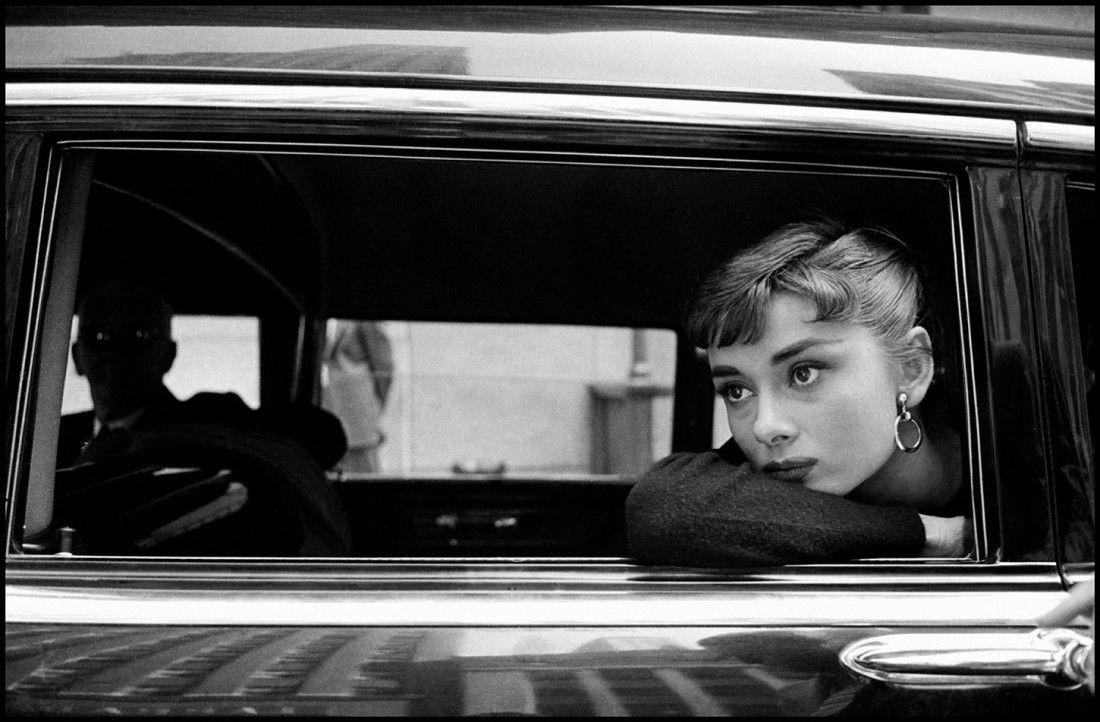 Audrey Hepburn in New York, 1954.