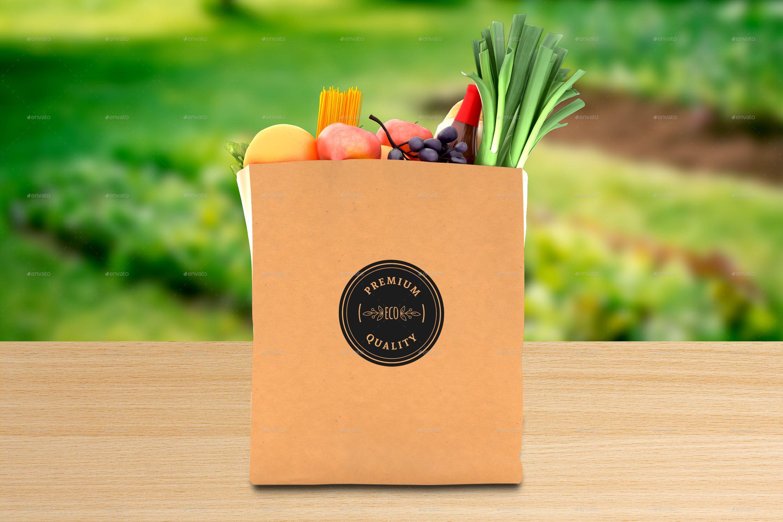 Download Grocery Paper Bag Logo Mockups Logo Mockup Bags Logo Mockup