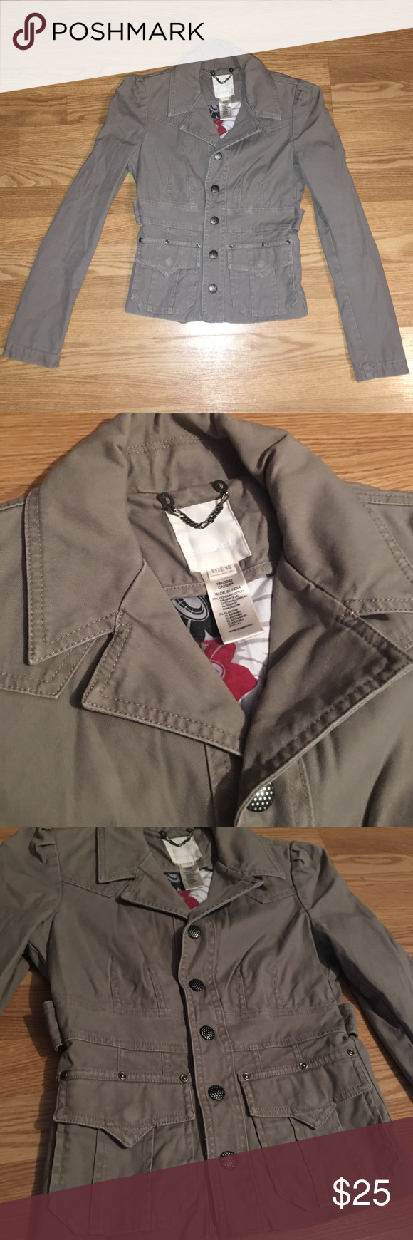Diesel Jacket Size XS, length: 20' armpit to armpit: 16' very nice jacket, extra small jacket in great condition 97% cotton, 3% elastan Diesel Jackets & Coats