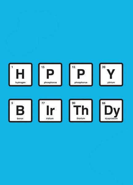 Breaking Bad/Periodic Table Happy Birthday Card in Walter ...