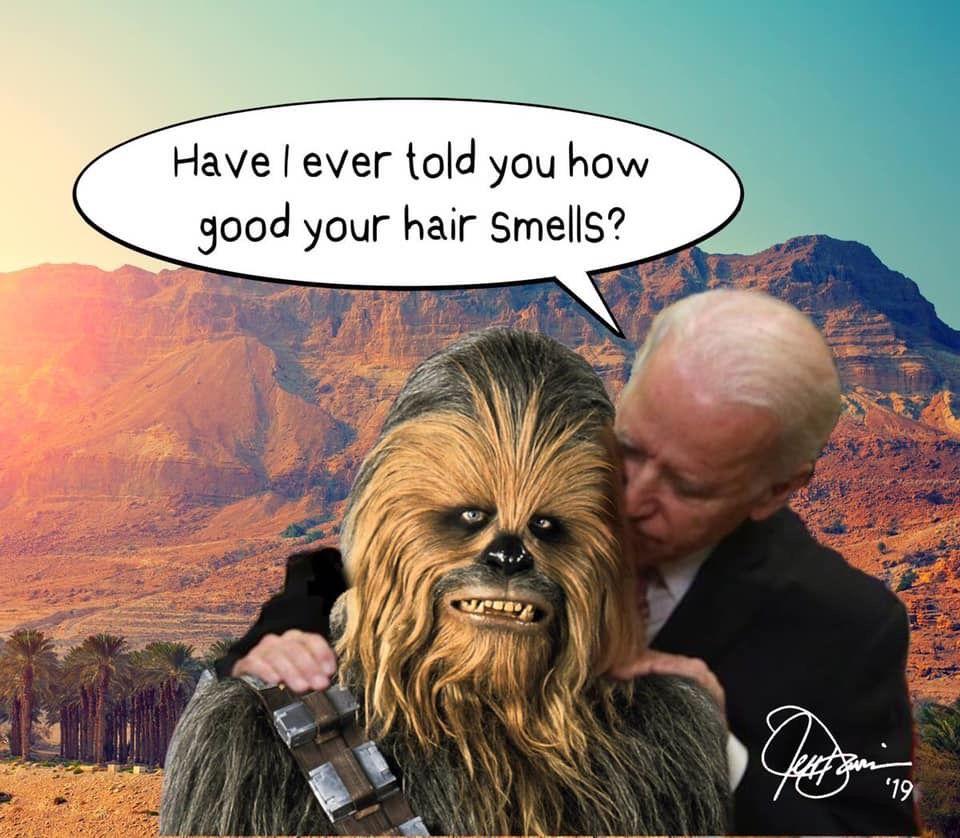Biden molesting Mooch!!!! Jokes pics, Creepy joe biden