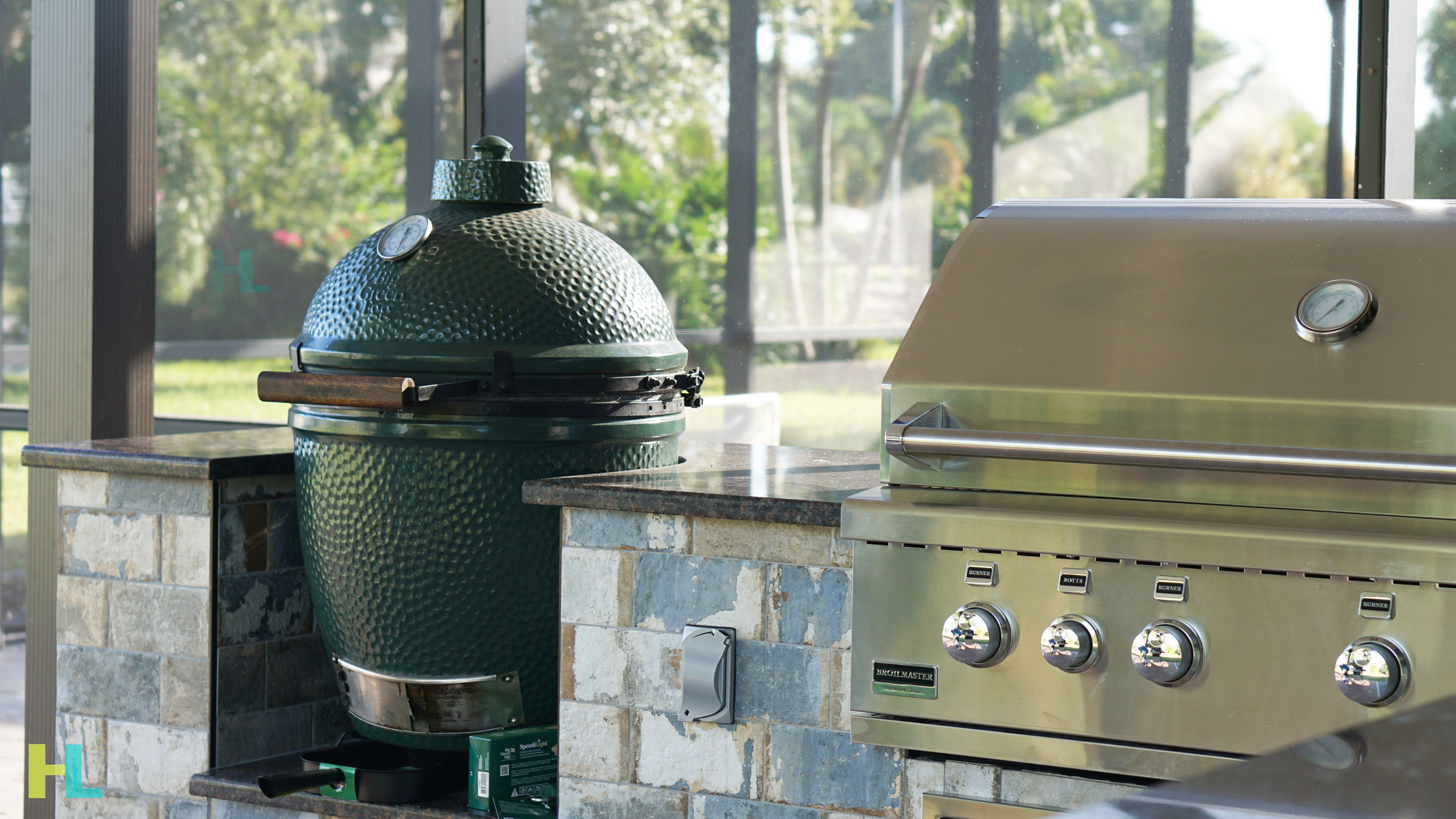 Add A Big Green Egg Broilmaster Grill All In One Get The Most Out Of Your Outdoor Living Space Bigg Big Green Egg Grill Green Egg Grill Outdoor Remodel