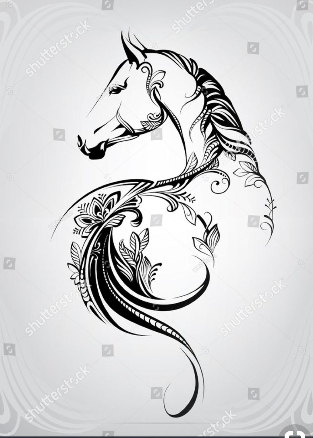 Pin By Dawn Capwell On Clip Art Horse Tattoo Horse Tattoo Design Horse Drawings
