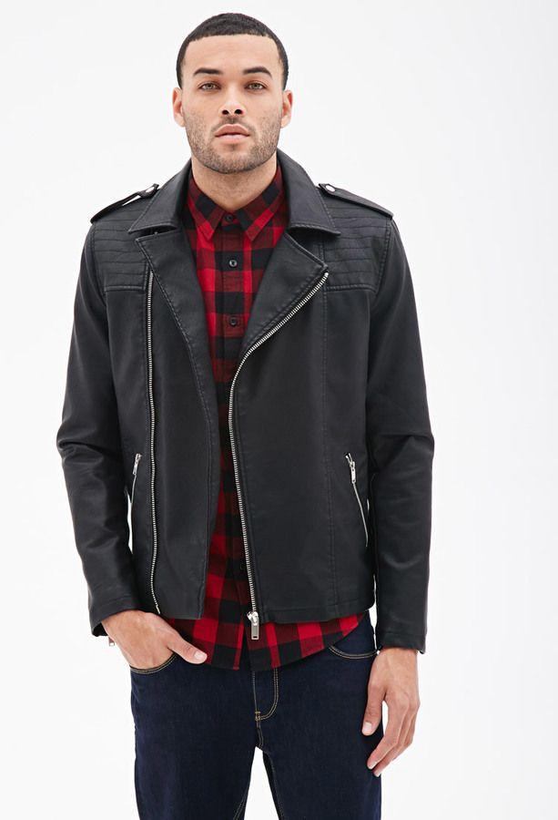 Como combinar chaqueta cuero negra