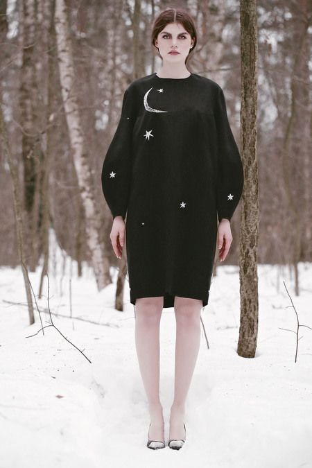 Vika Gazinskaya Fall 2013 #RTW #Ykone #style #PFW #fashion #Paris #stars #moon #black #night