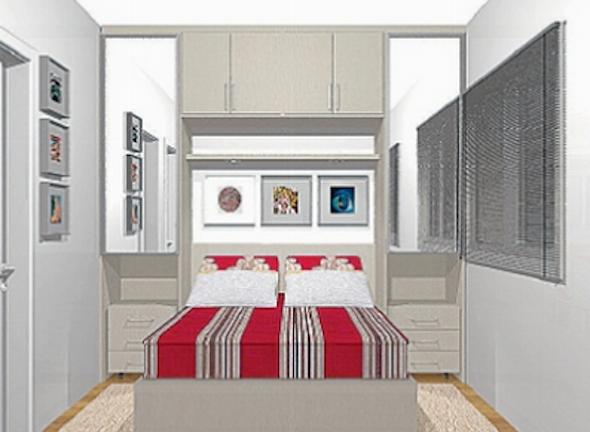 Artesanato Japones Passo A Passo ~ cama+com+armario+embutido+modelo9 quarto de casal