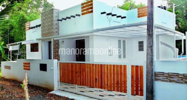 Cute Looking Budget Kerala 2 Bedroom Home Design And Plan In 650 Square Feet