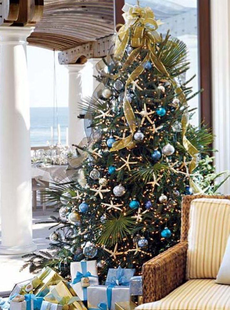 Pin by Janine on Coastal Christmas | Christmas tree ...