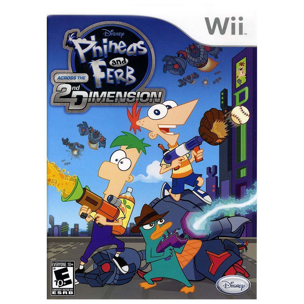 Disney Phineas and Ferb: Across the 2nd Dimension for Nintendo Wii, Multicolor