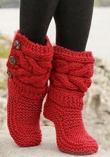 0f39f3bd27629 Aprenda como fazer bota de tricô passo a passo