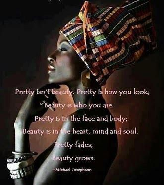 Being yourself, accepting yourself is true beauty.