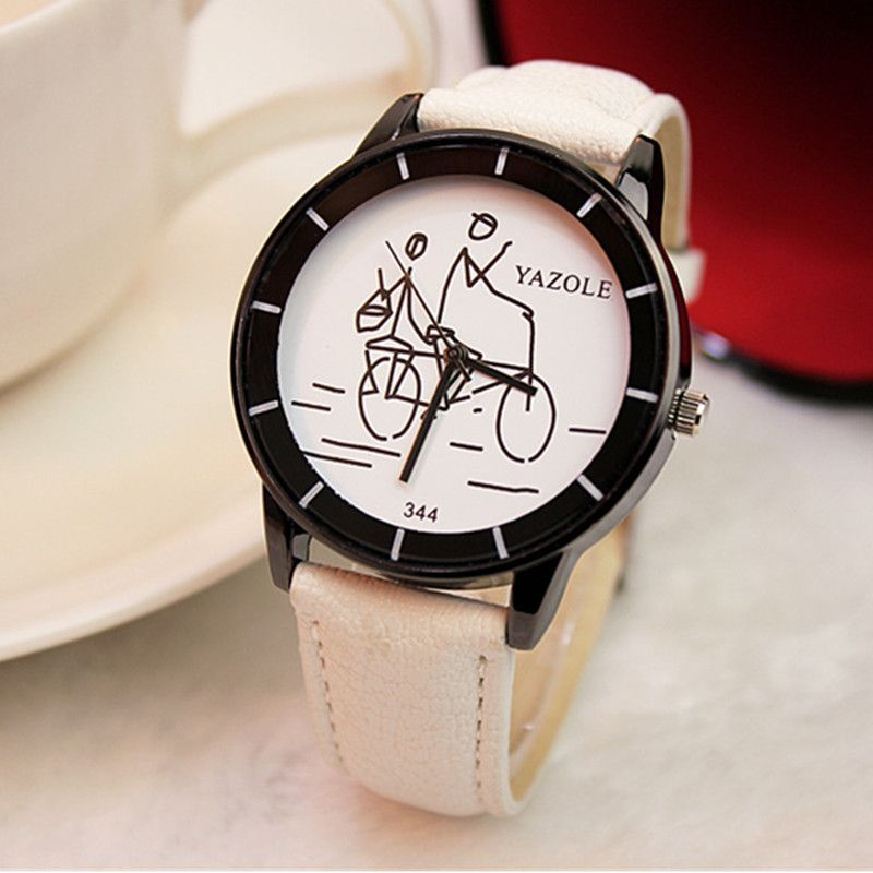 e2e840cdc7 hot sale girls leather watch women fashion casual quartz watch popular  students wrist watch clock hour relogio feminino