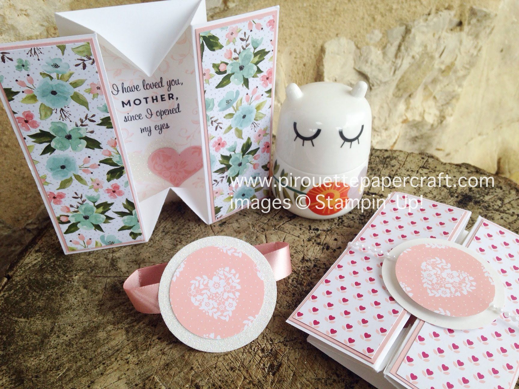 Motherus day box card stampinu up first sight cards for woman