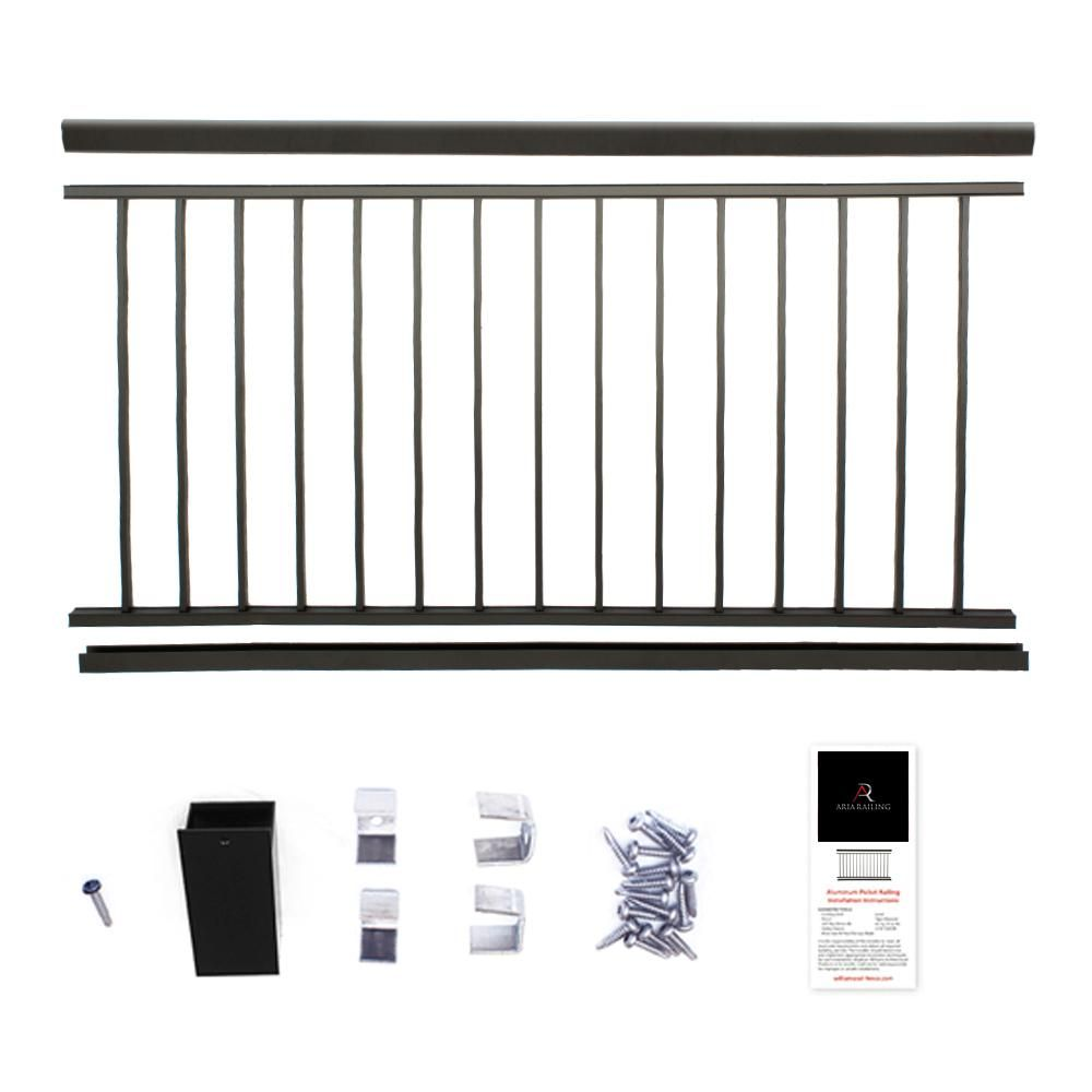 Best Aria Railing 36 In X 6 Ft Black Powder Coated Aluminum 400 x 300