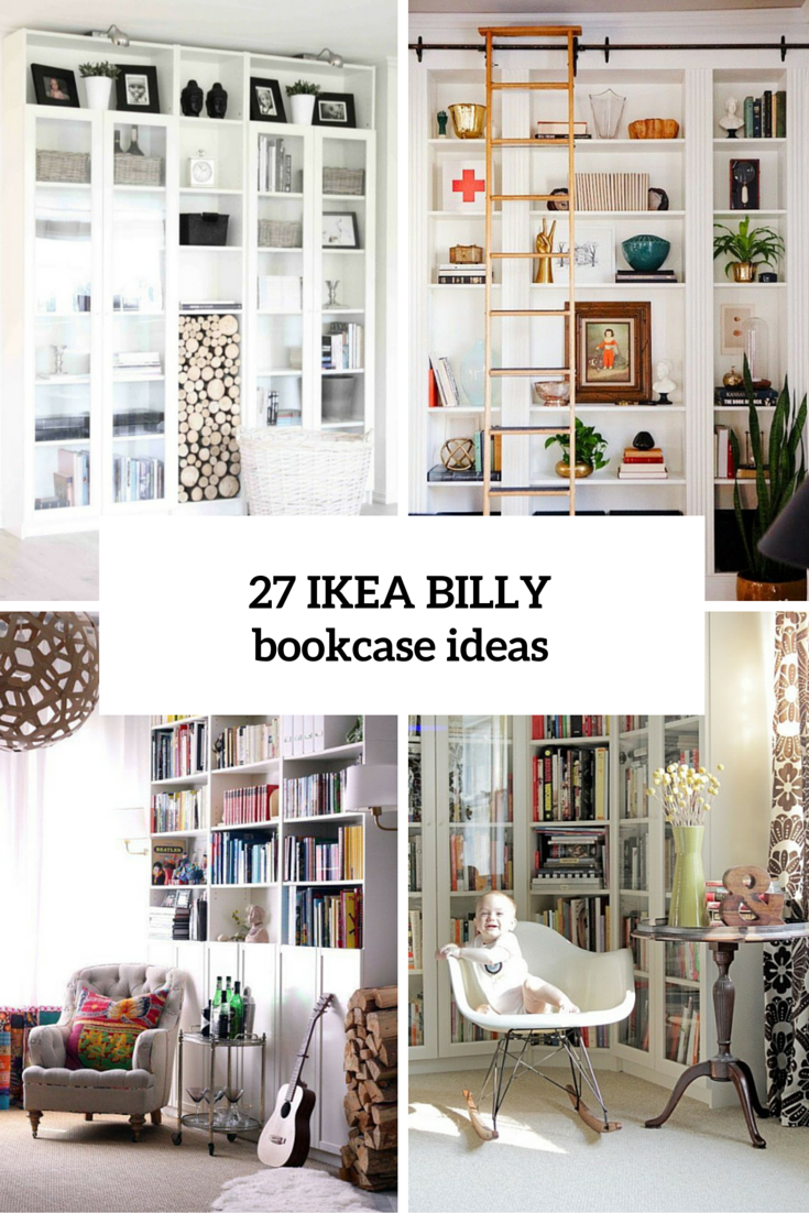 27 awesome ikea billy bookcases ideas for your home digsdigs petit appartement pinterest. Black Bedroom Furniture Sets. Home Design Ideas