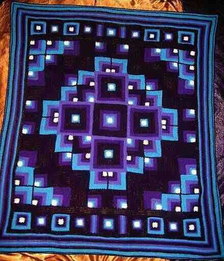Crocheted quilt Looks Quilted but  not  ;-$