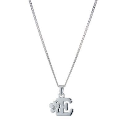 Children's Sterling Silver Initial E Pendant- H. Samuel the Jeweller