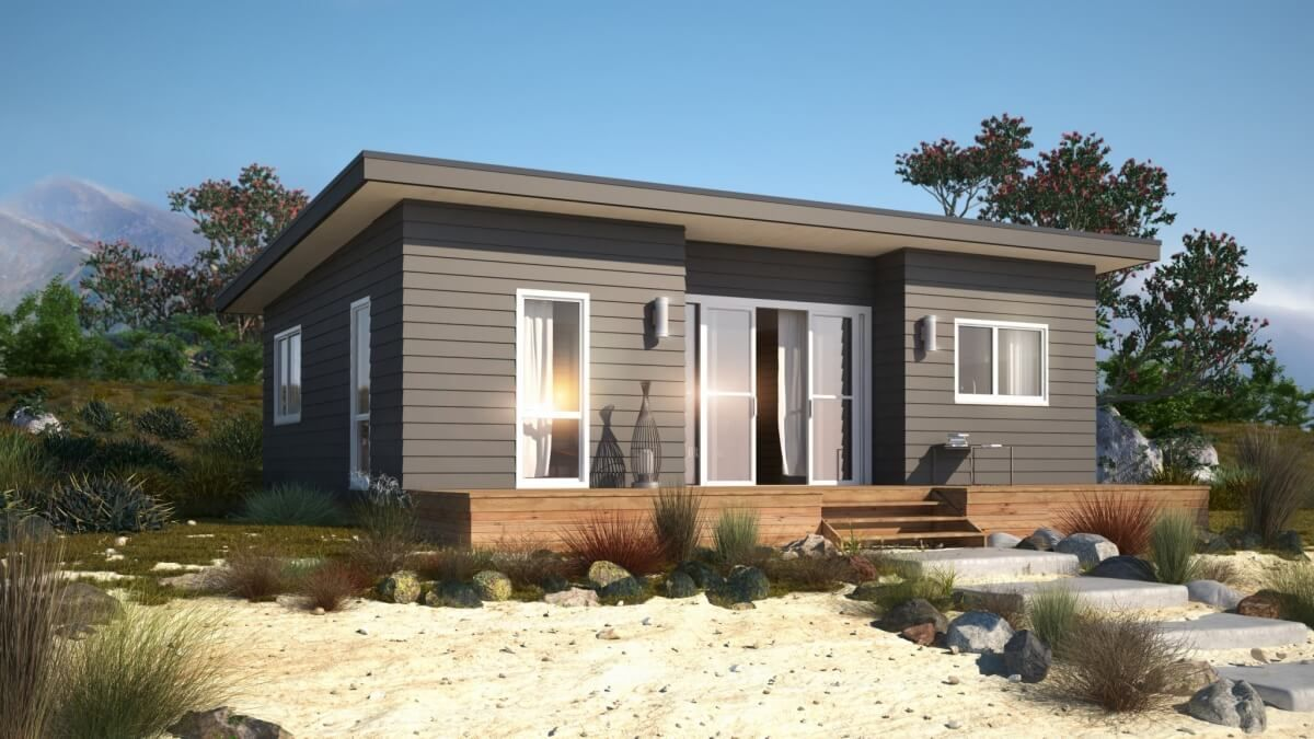Image Result For 2 Bedroom House Plans Nz Bach Modular Homes Prefabricated Houses Cabin House Plans