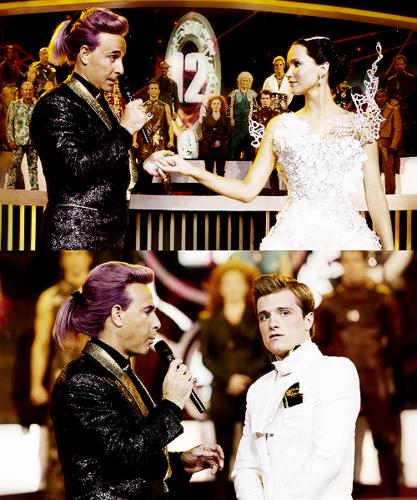 Peeta And Katniss Fanart Catching Fogo Pre Games