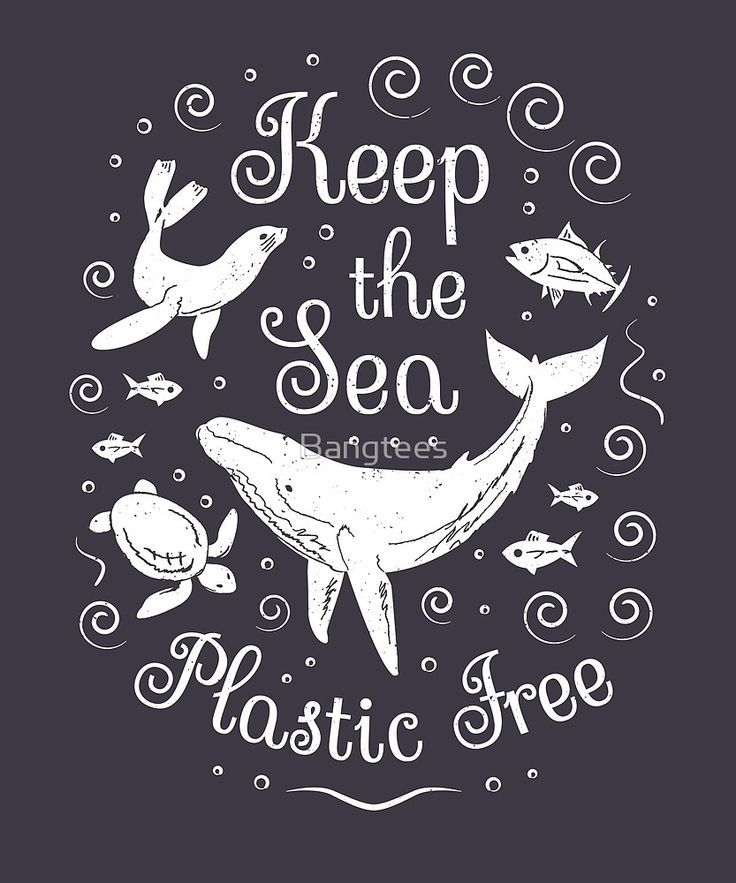 'Plastic Pollution - Keep the Sea Plastic Free' by Bangtees