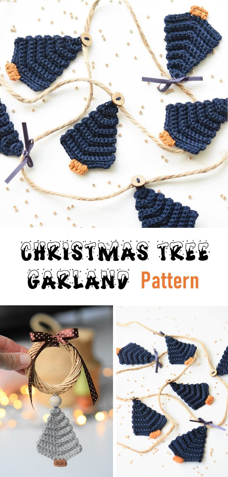 CHRISTMAS TREE GARLAND – CROCHET PATTERN