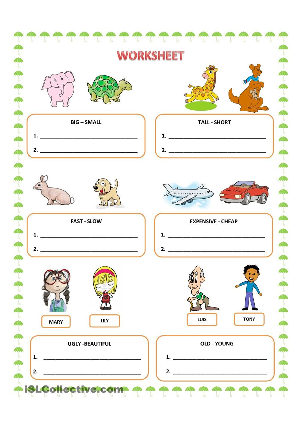 worksheet Comparative Adjectives Worksheets 78 images about comparatives on pinterest mars student and board games